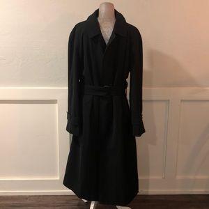 Men's Burberry black coat with detachable vest